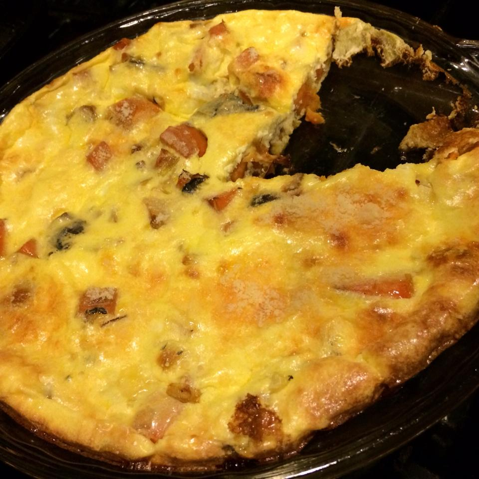 Quiche with Leeks, Mushrooms and Sweet Potatoes