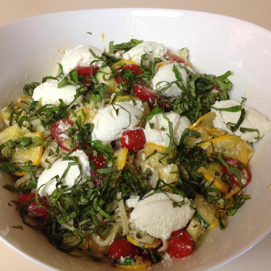 Linguine with Summer Squash, Tomatoes, and Basil