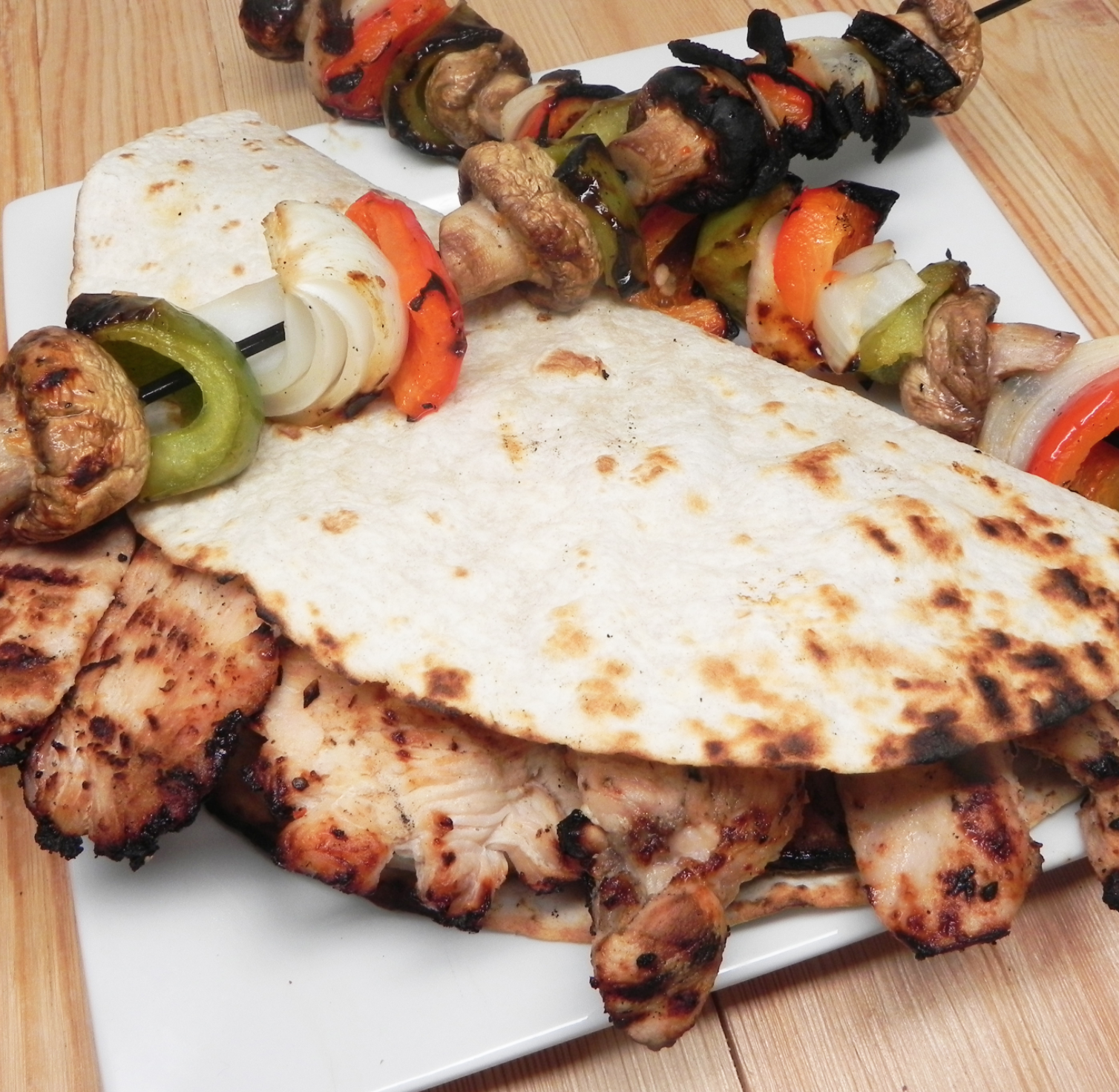 Grilled Tequila-Lime Chicken Fajitas