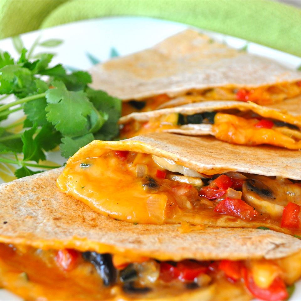 quesadillas stuffed with vegetables