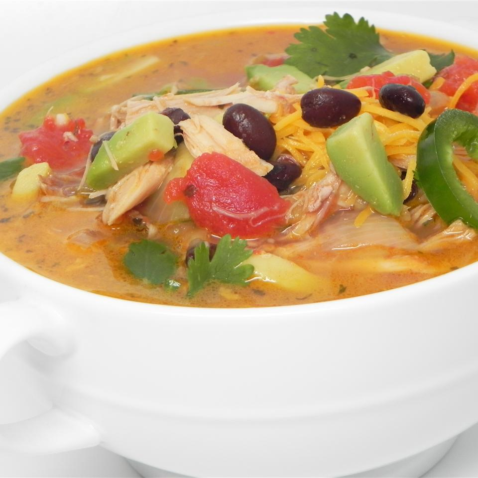bowl of Southwestern Turkey Soup