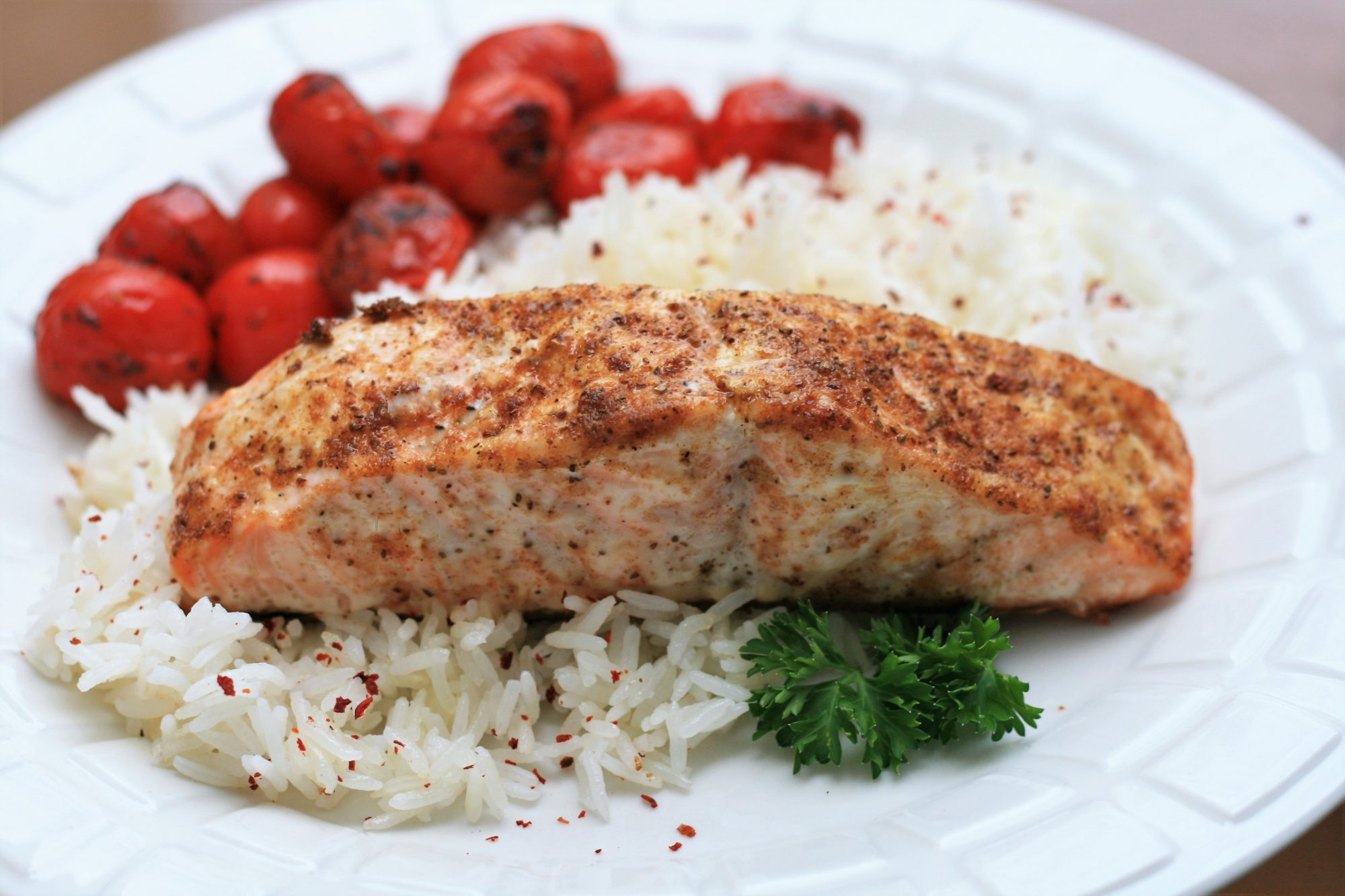 Baked Old Bay Salmon
