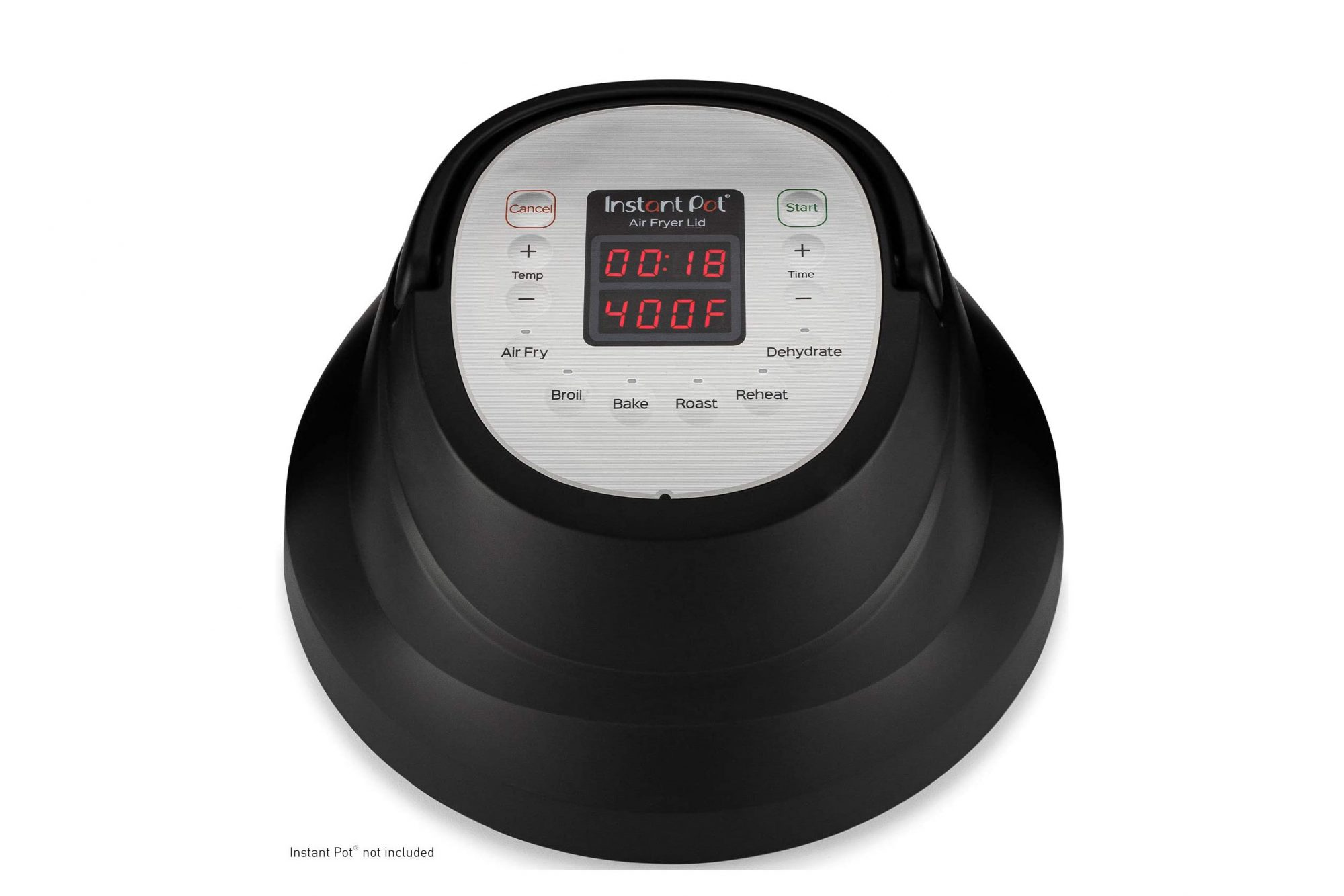 Instant Pot Air Fryer Lid on white background