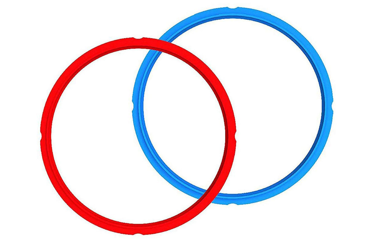 Instant Pot Sealing Rings in red and blue