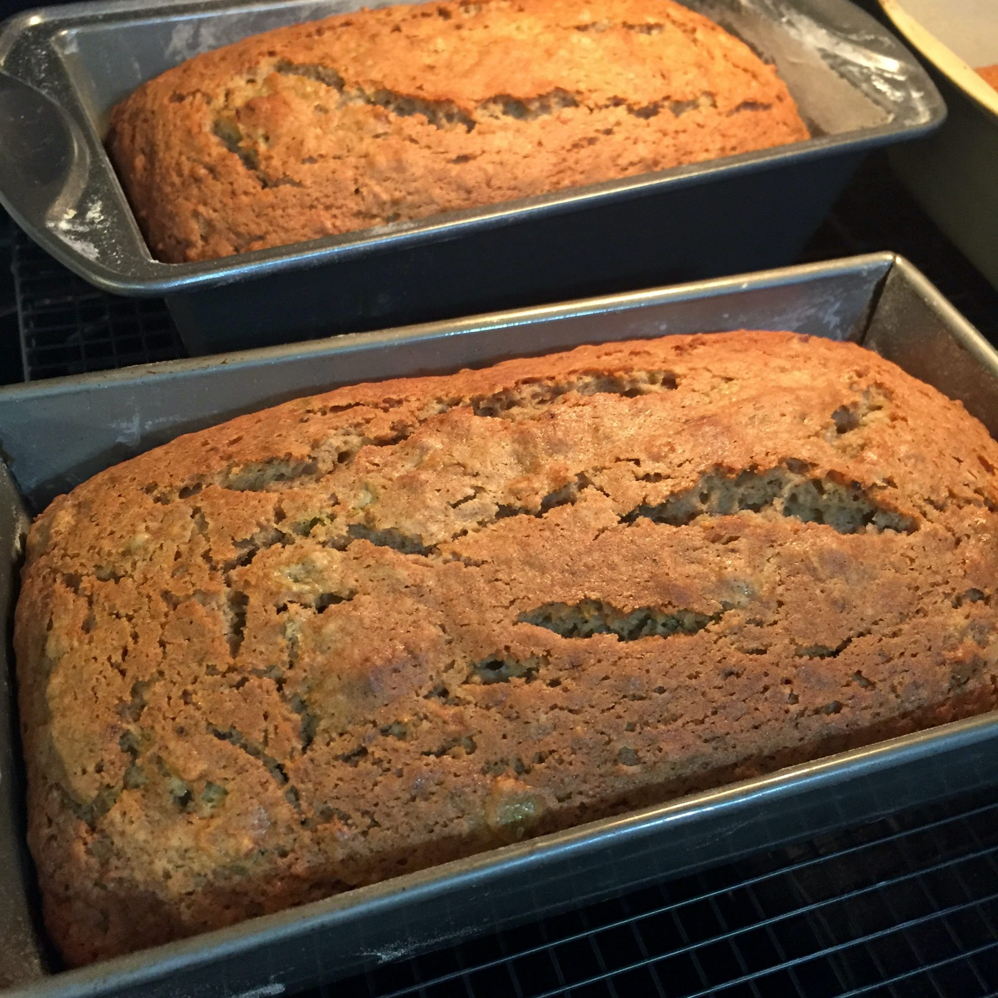 Two loaves of Green Tomato Bread