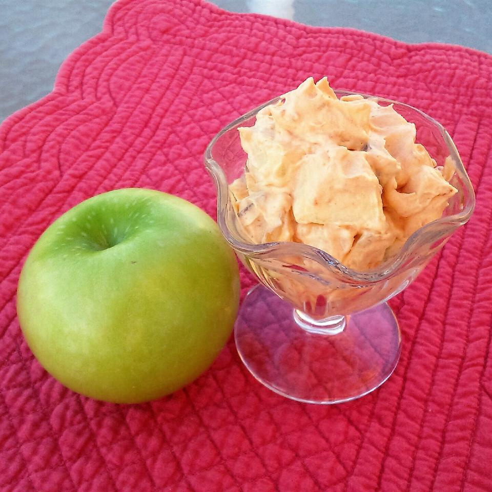 Easy Caramel Apple Salad in a glass bowl