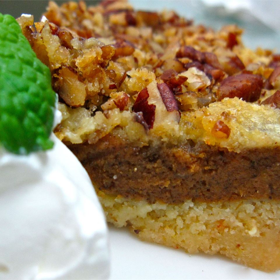 Pumpkin Crumb Cake on a white dish