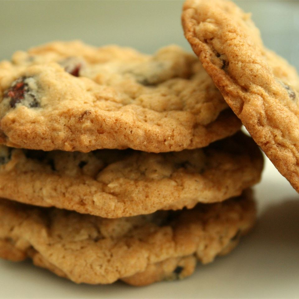 Stack of Oatmeal Craisin Cookies