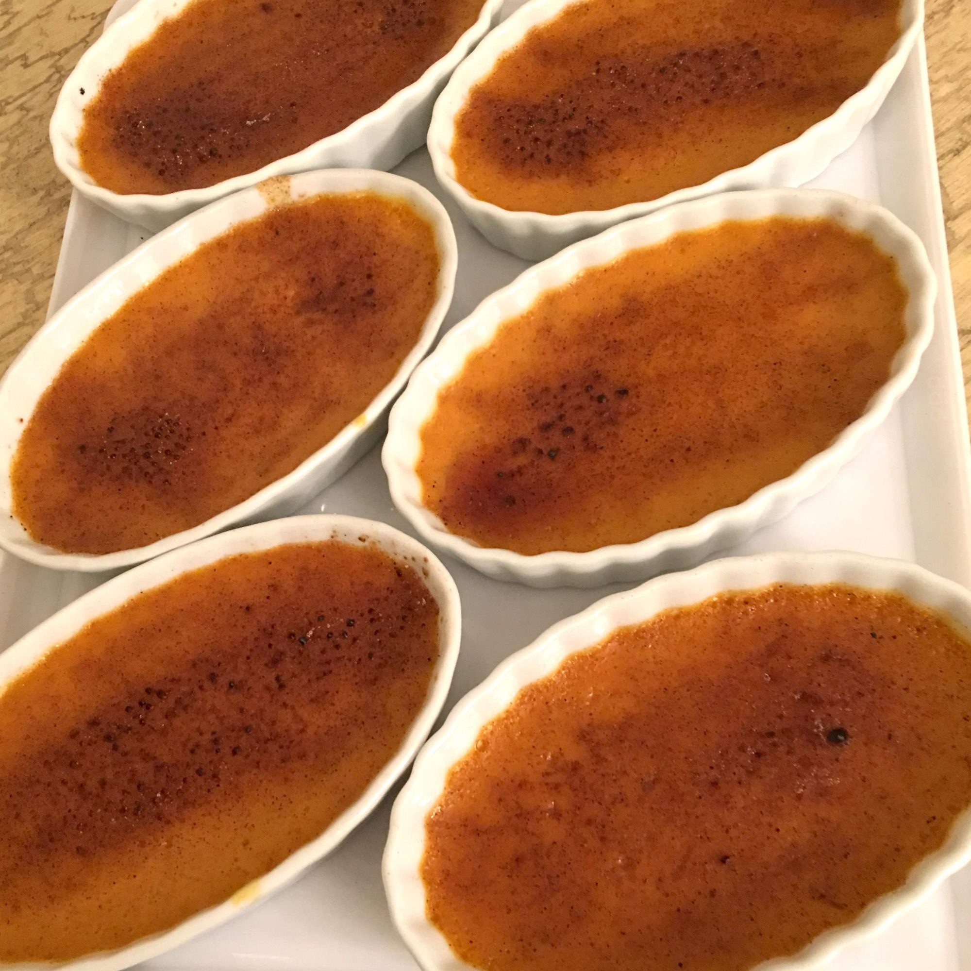 Six servings of Chef John's Pumpkin Creme Brulee