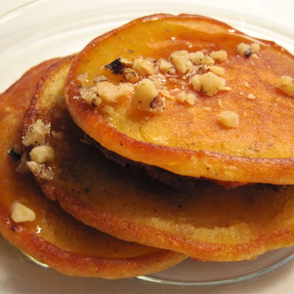 stack of Chef John's Pumpkin Pancakes