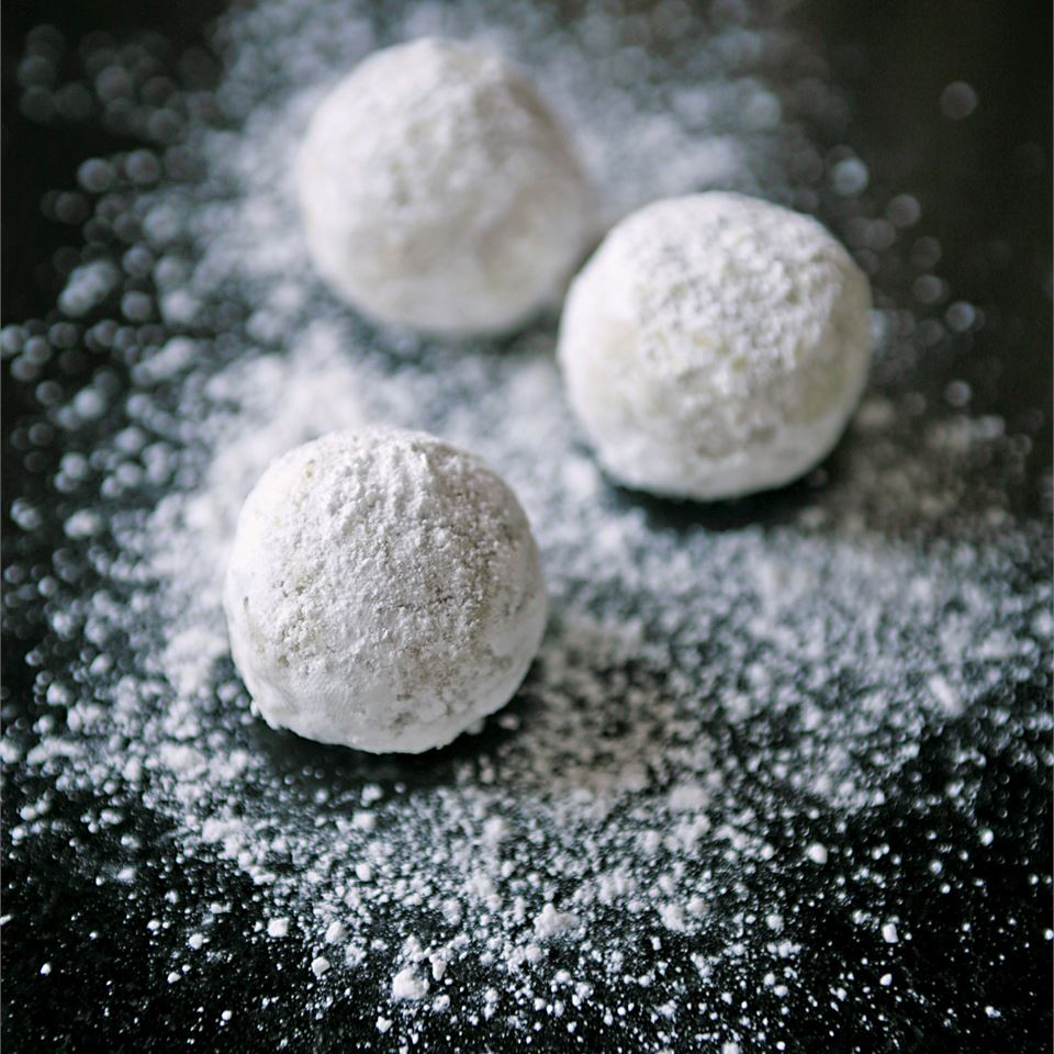Russian Tea Cakes I sprinkled with powdered sugar