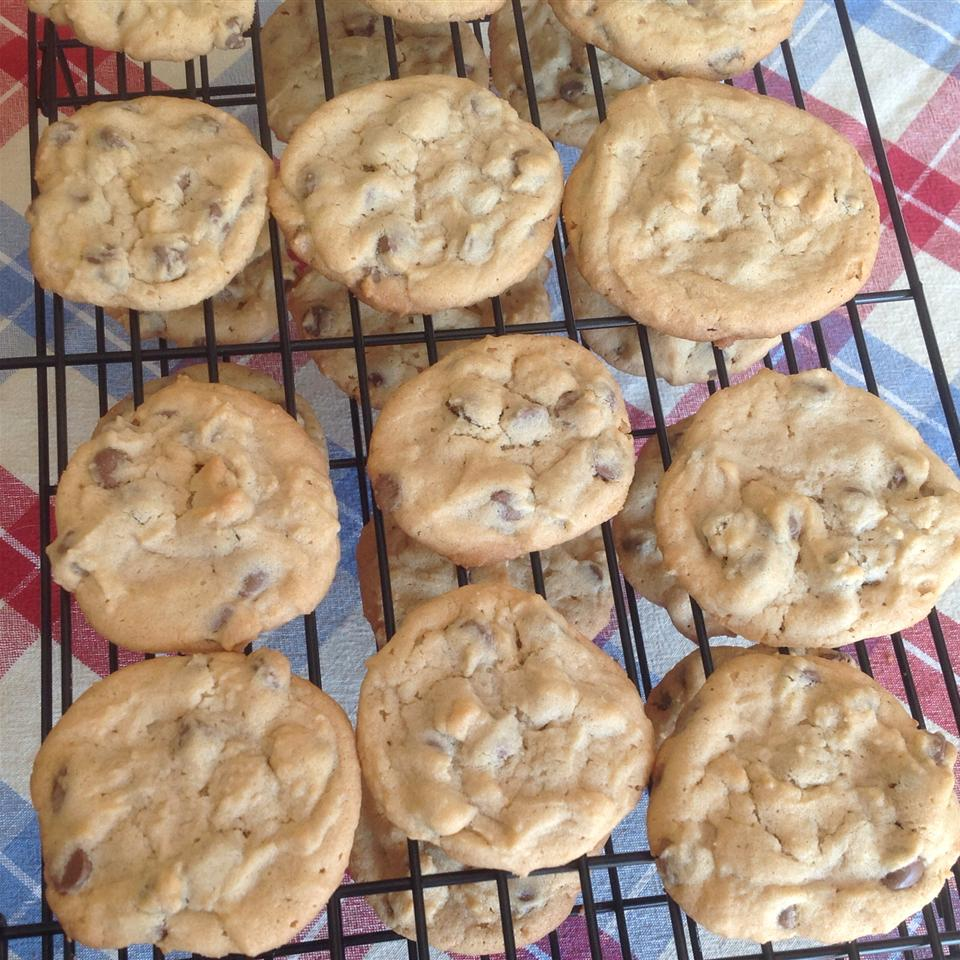 Outrageous Chocolate Chip Cookies on cooling racks