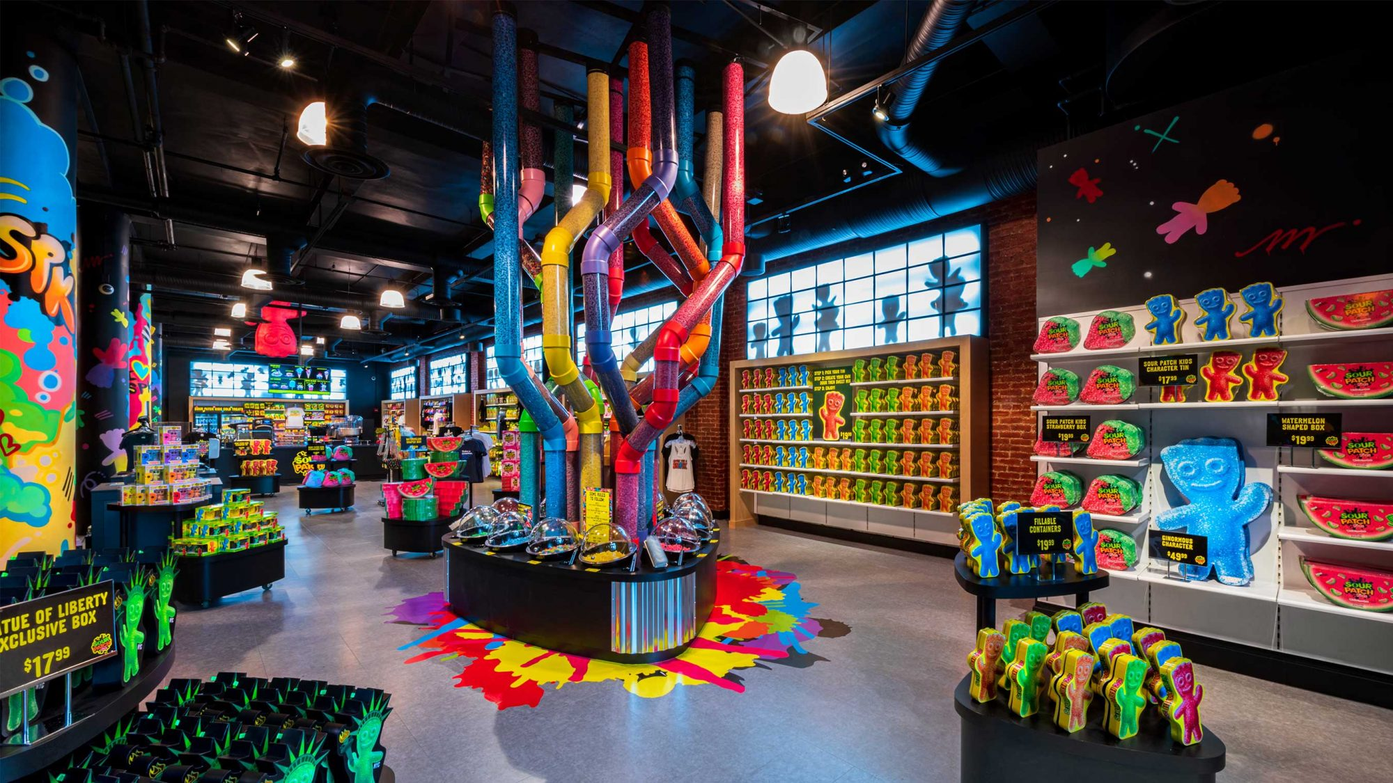 A view of the Sour Patch Kids Store in in New York City