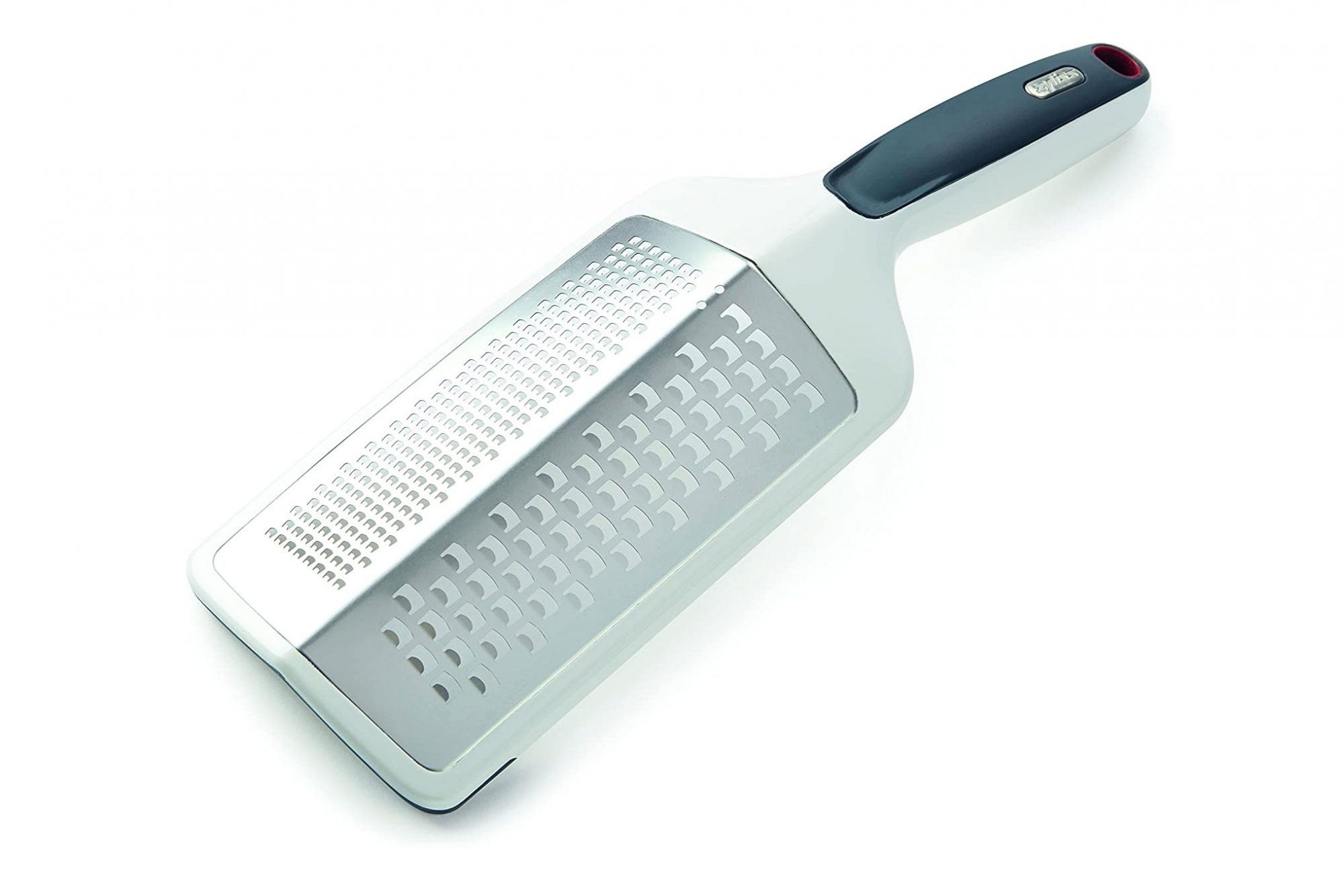 Zyliss Hand Held Grater in white on white background