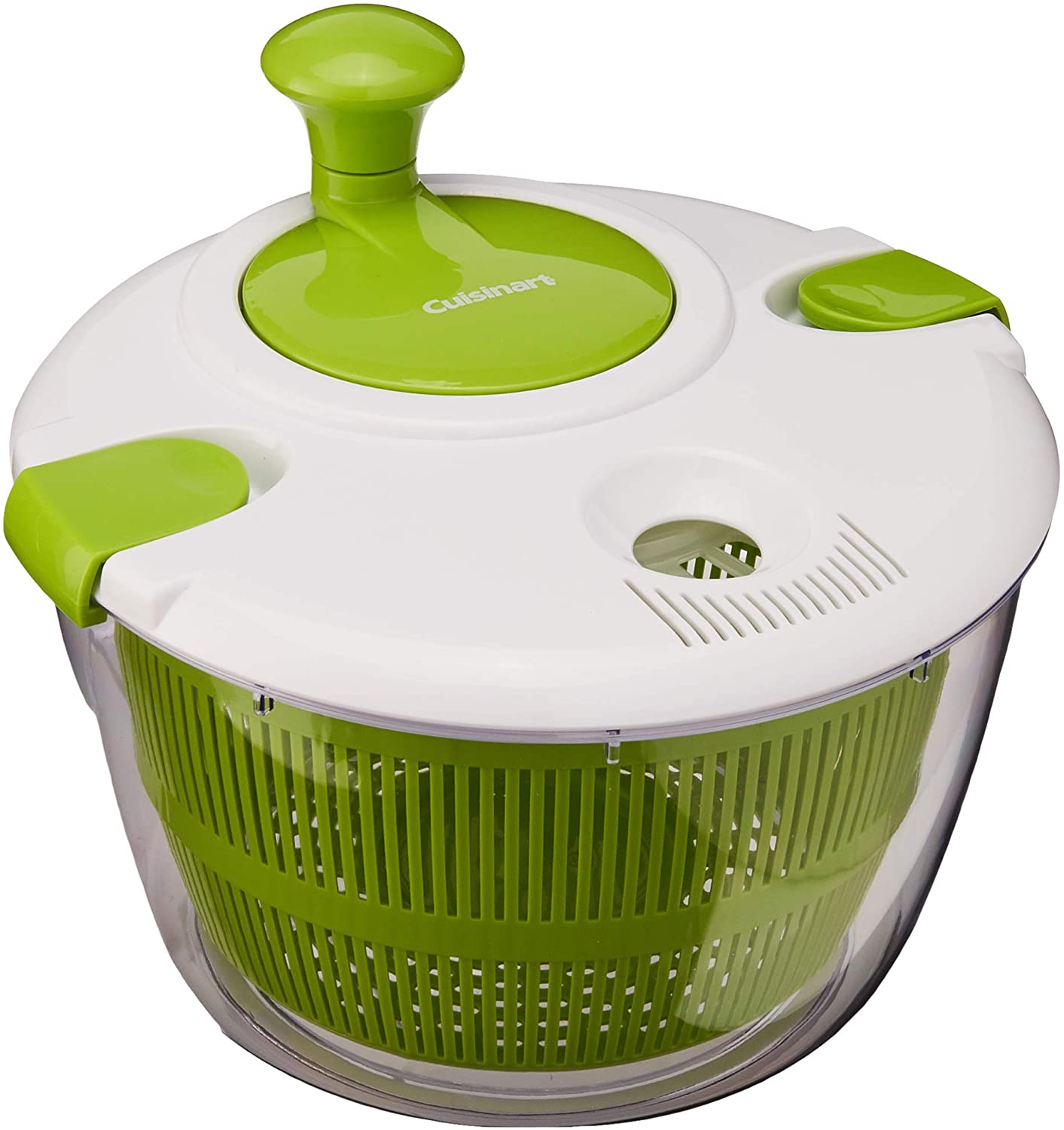 A Cuisinart Salad Spinner on white background