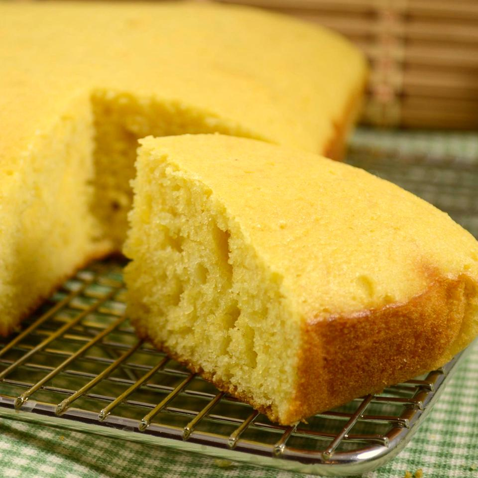 Grandmother's Buttermilk Cornbread on a baking rack