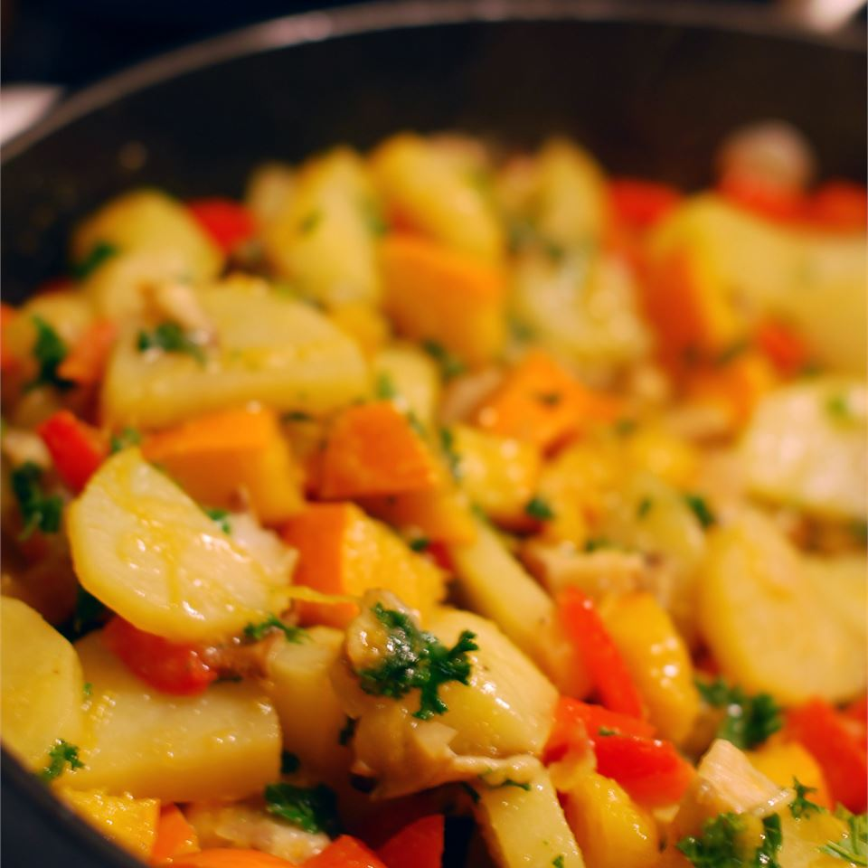 Close up of Winter Vegetable Hash