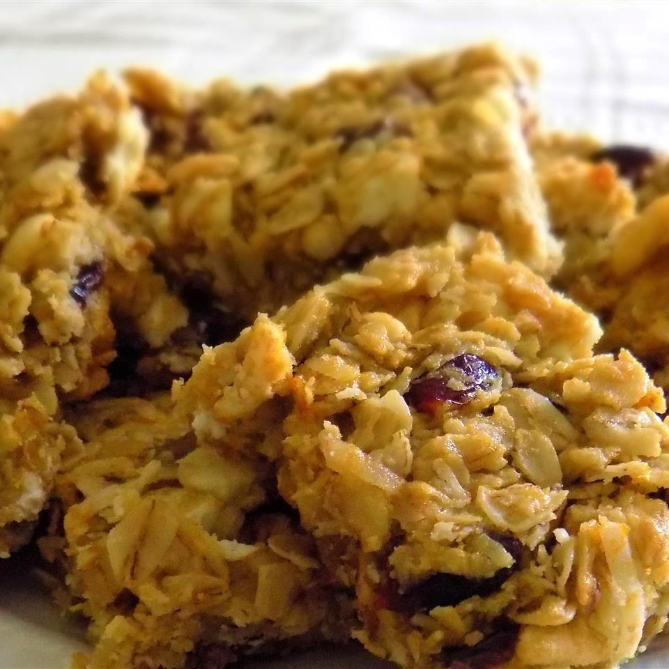 Stack of Chewy Granola Bars
