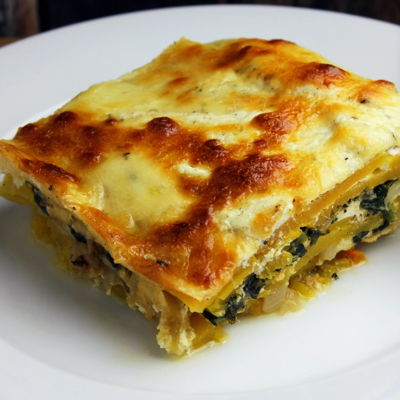 Lasagna made with butternut squash