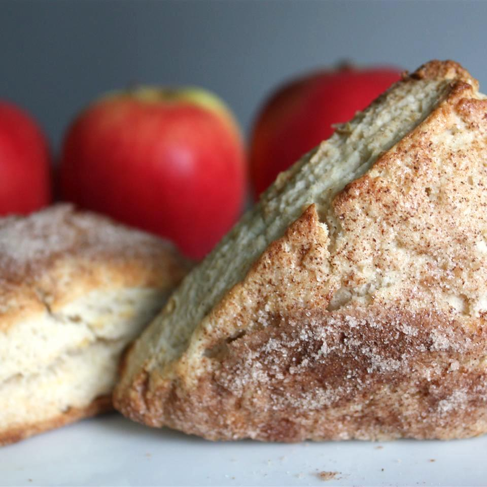 Apple Scones in front of red apples