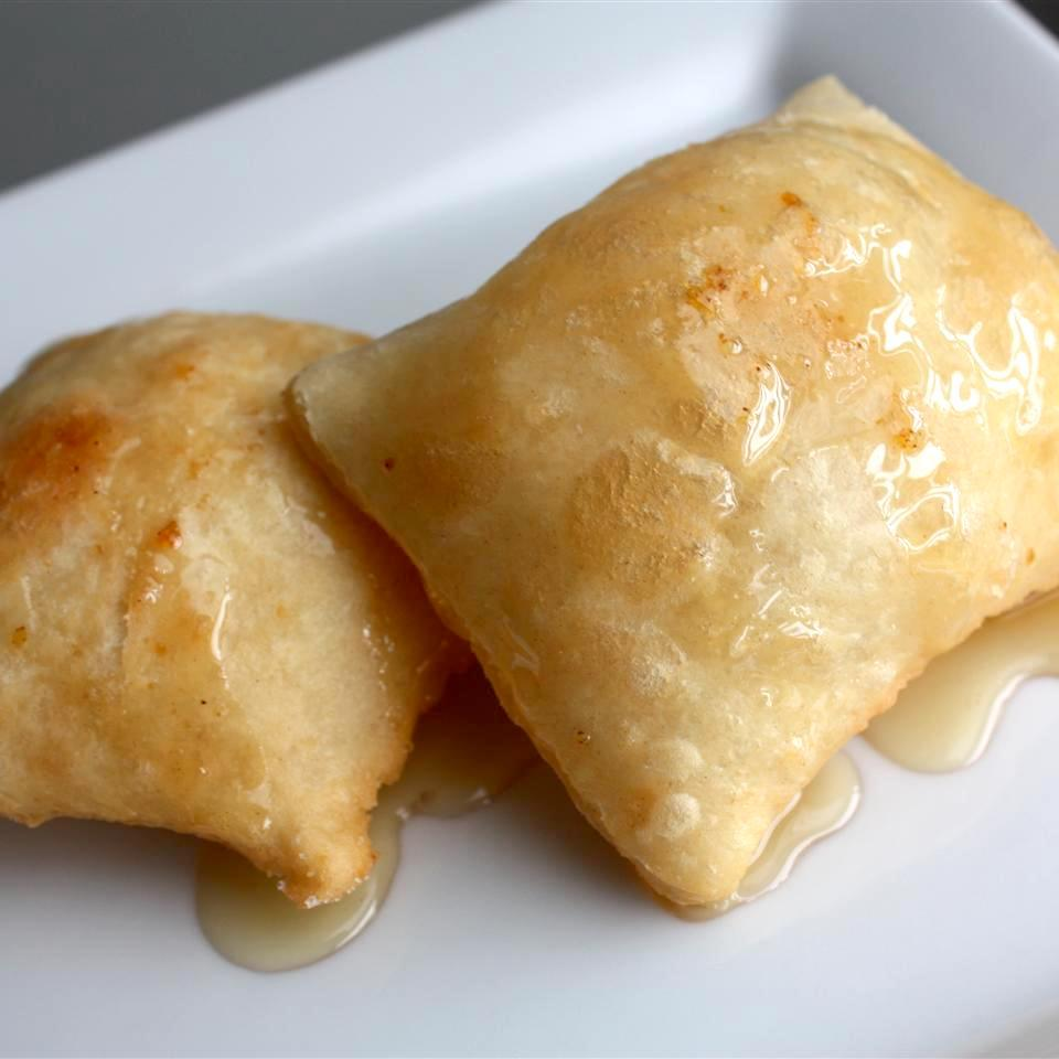 Real Sopapillas covered with honey