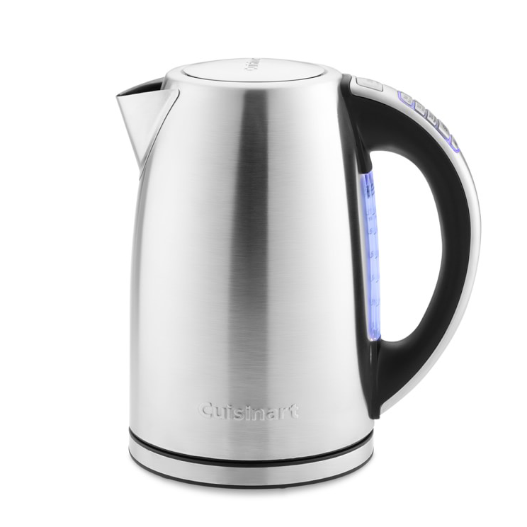 an Cuisinart PerfecTemp Electric Tea Kettle on a white background