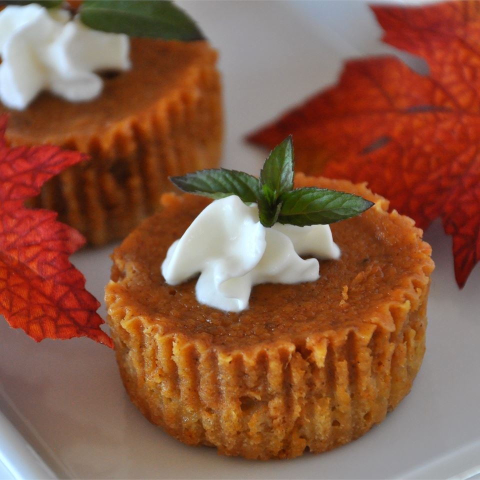 Easy Pumpkin Pie Squares decorated with whipped cream