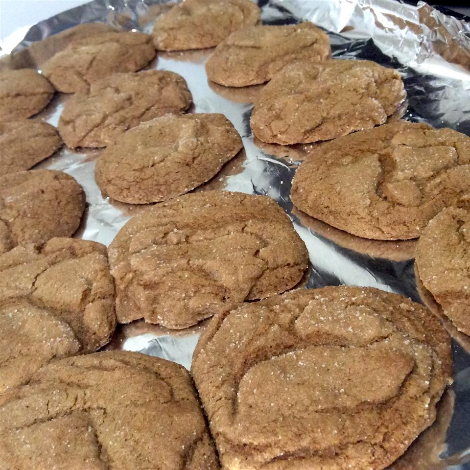 Rolled Molasses Sugar Cookies on tin foil