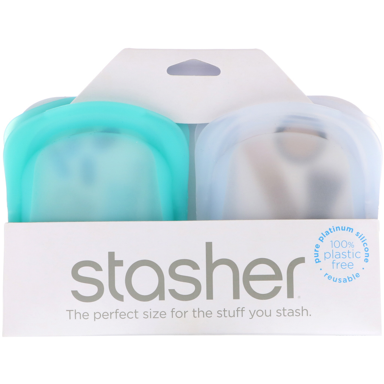 set of two Stasher 4 oz. bags