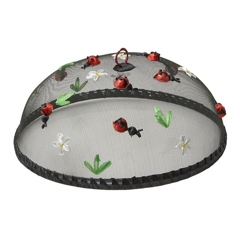 """August Grove Montigny 14"""" Lady Bugs Food Cover on a white background"""
