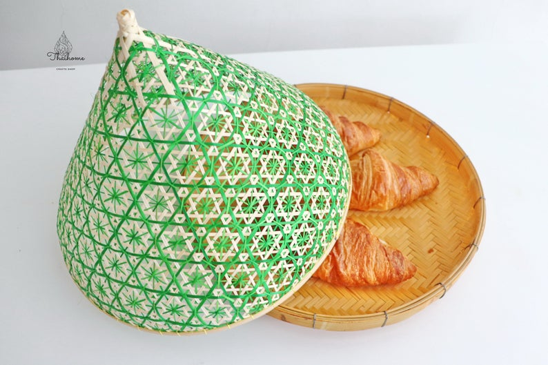 FOOD COVER LID-Bamboo Food cover
