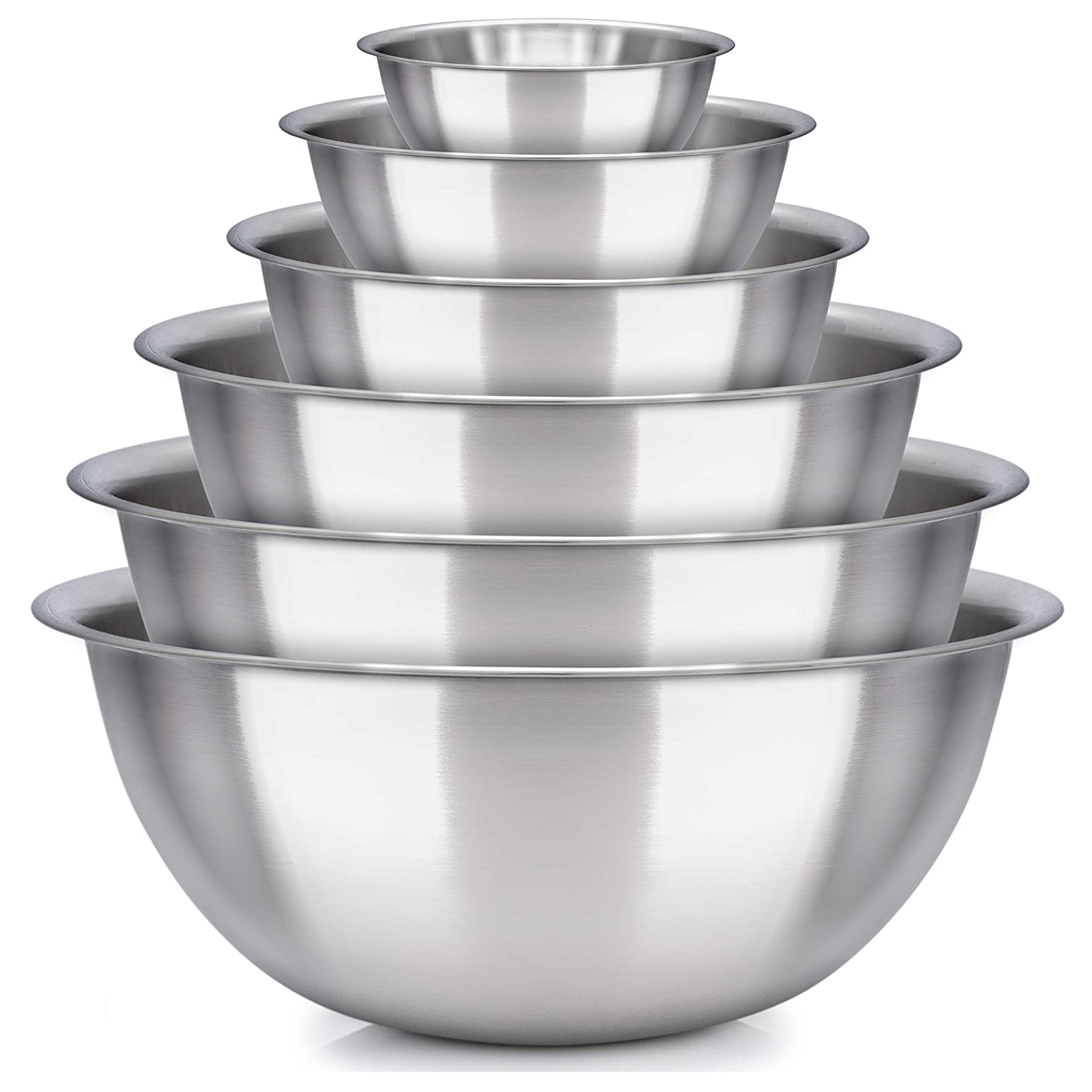 mixing bowl Set of 6 - stainless steel mixing bowls