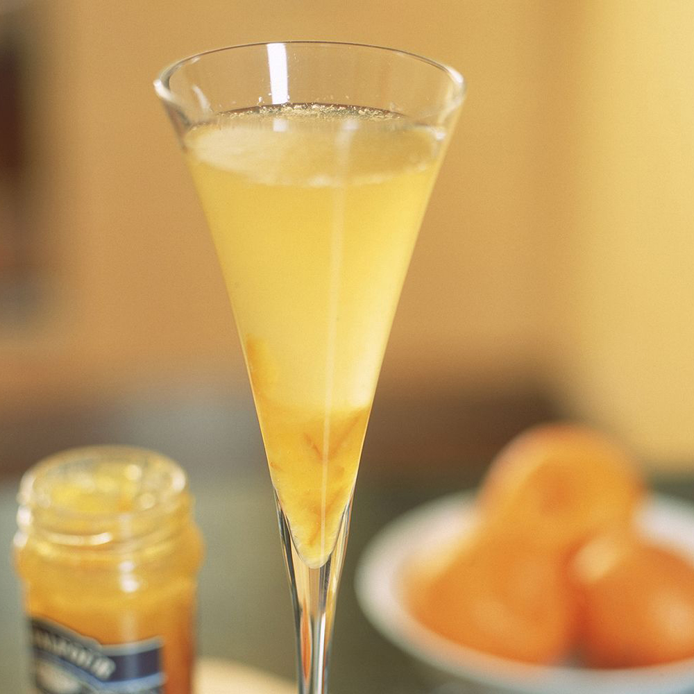 Really Simple Bellinis with an orange background