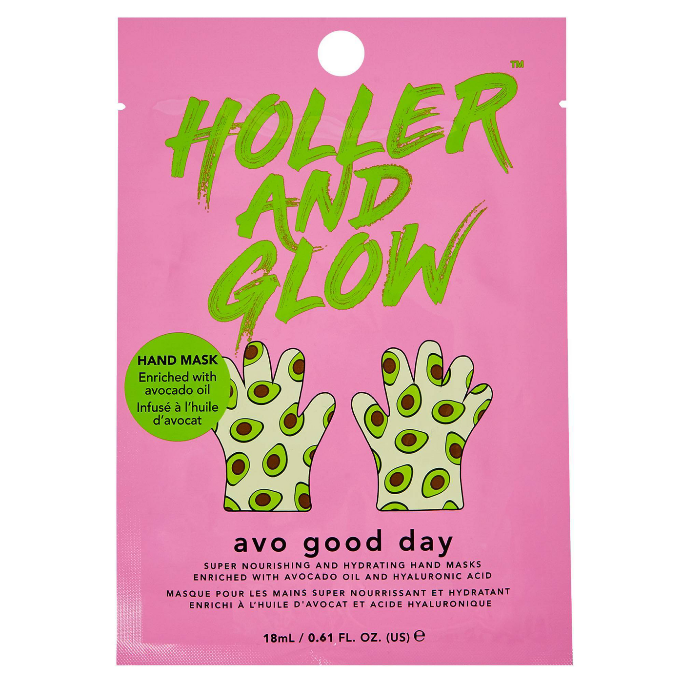 Holler and Glow Avo Good Day Nourishing and Hydrating Hand Mask