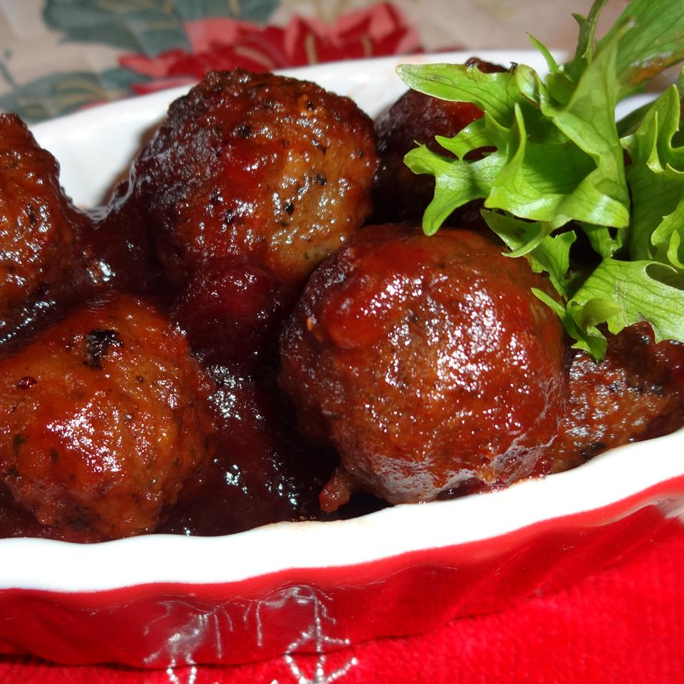 meatballs in a red dish