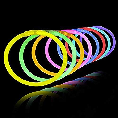 Glow in the dark bracelets in a variety of colors