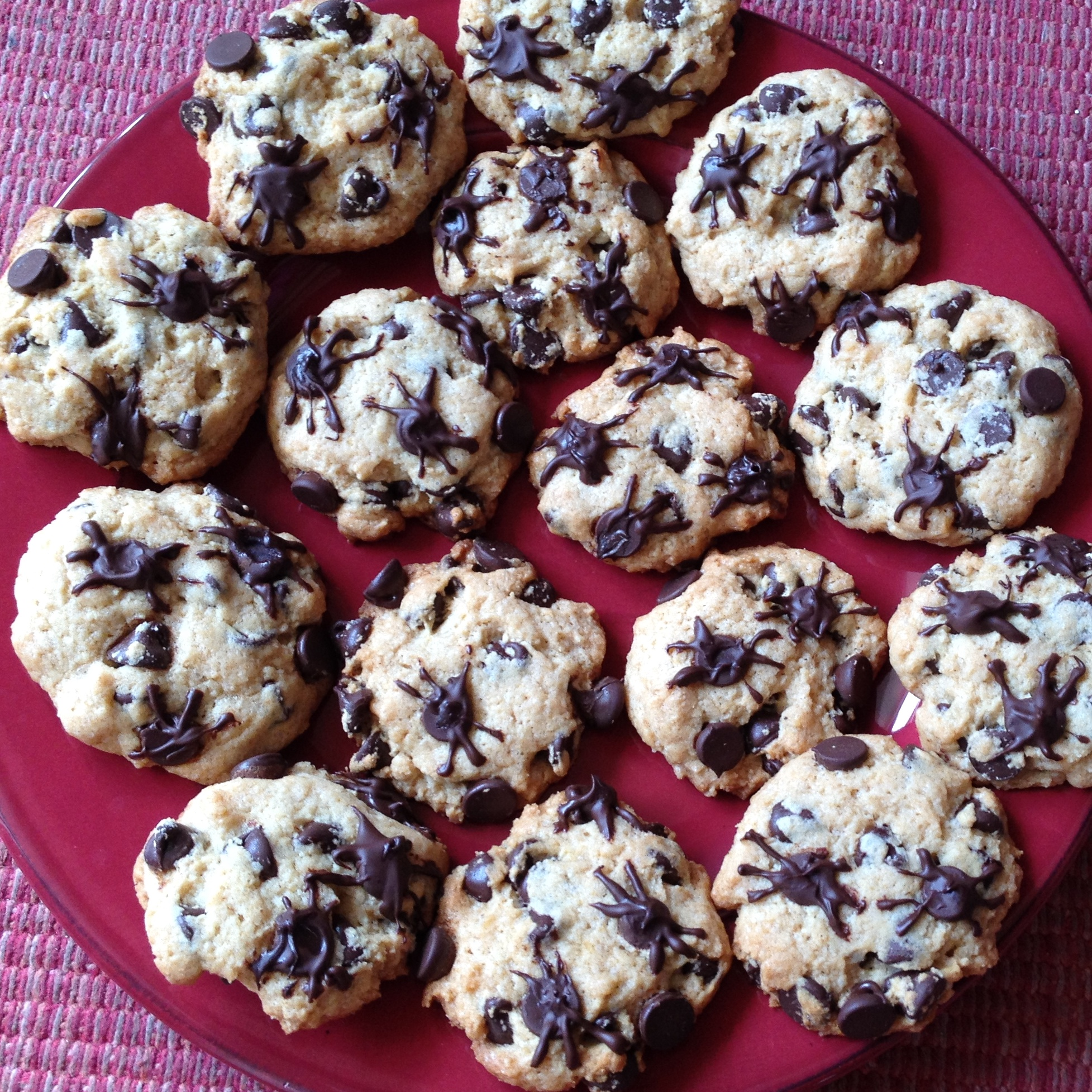 cookies with chocolate chips that look like spiders