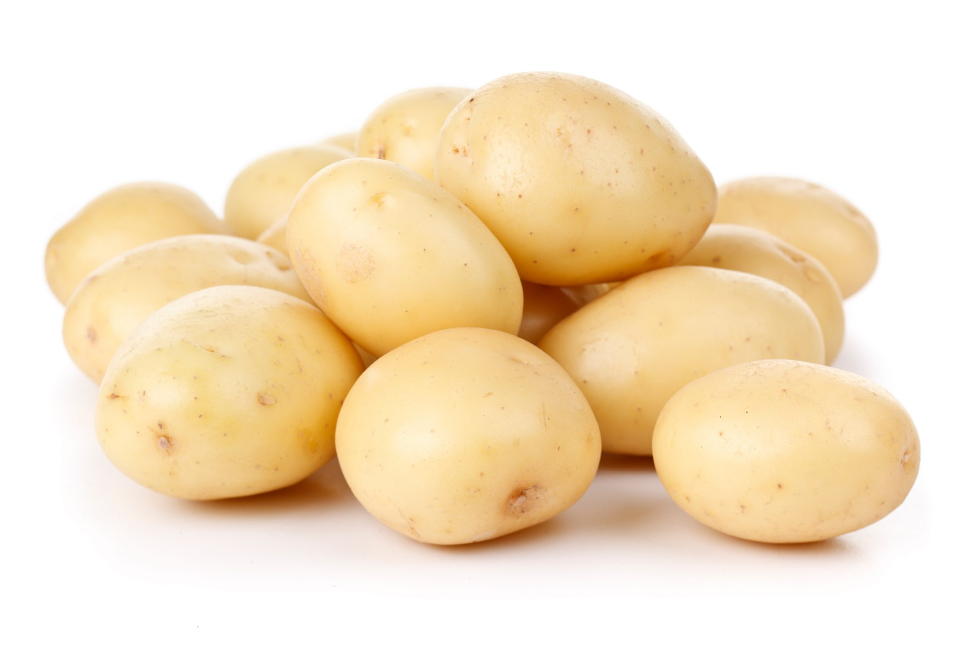 Close up of white potatoes