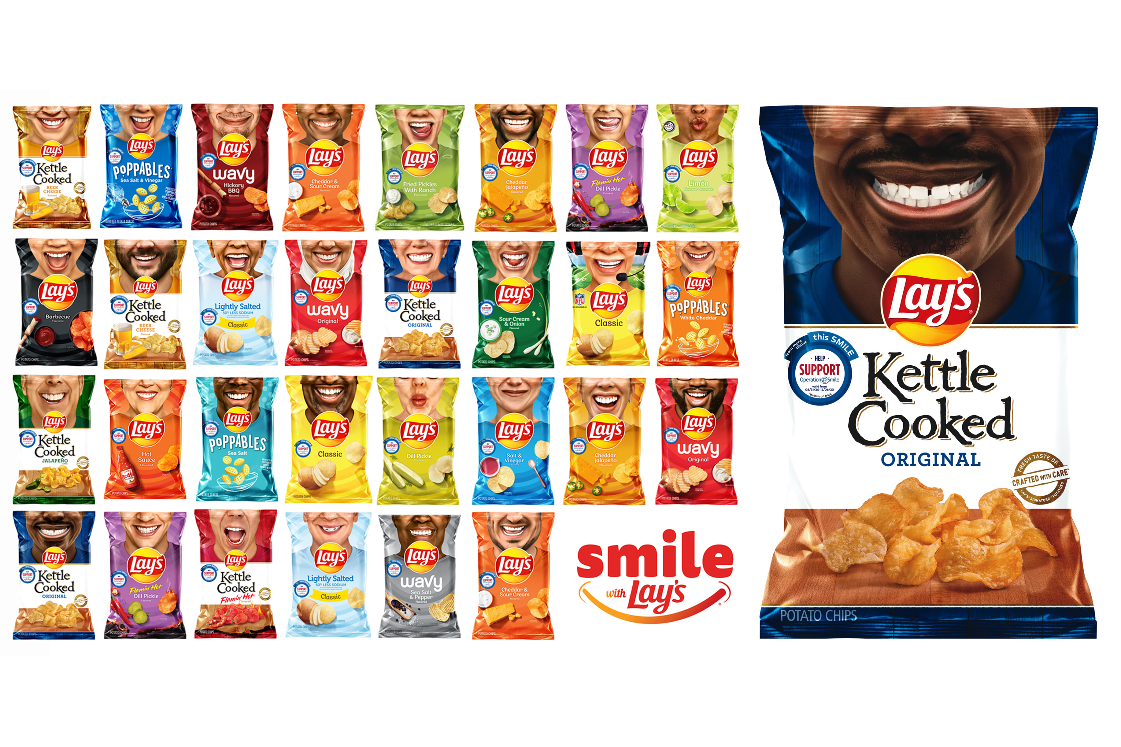 Lay's Smiles on Aisles for Miles Collage