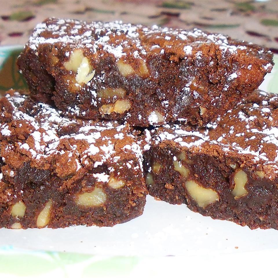 plate of Fudge Walnut Brownies