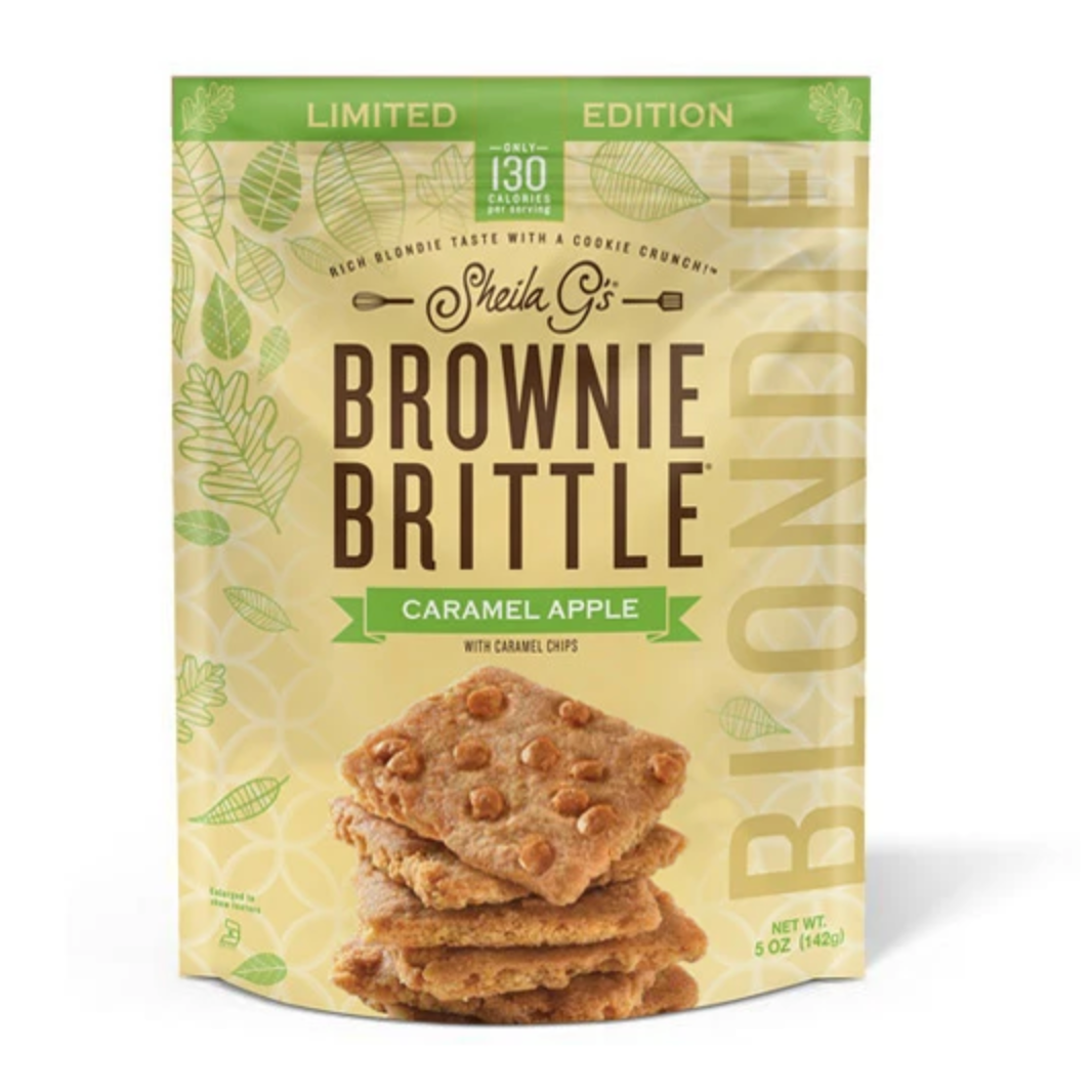 a bag of Sheila G's Limited Edition Caramel Apple Blondie on a white background