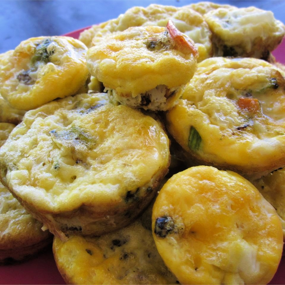 plate of sausage egg muffins
