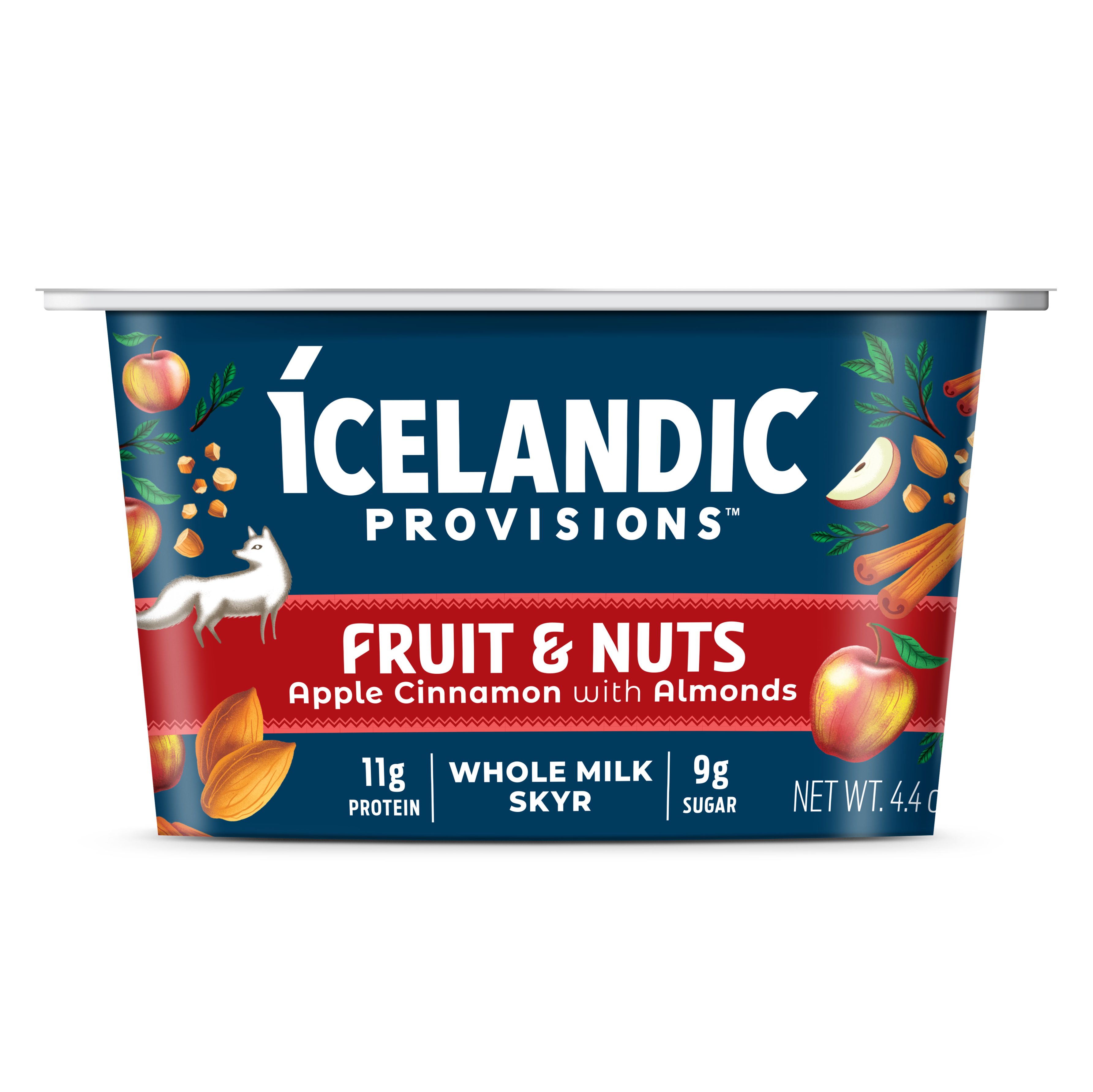 a container of Icelandic Provisions Fruit & Nuts Apple Cinnamon