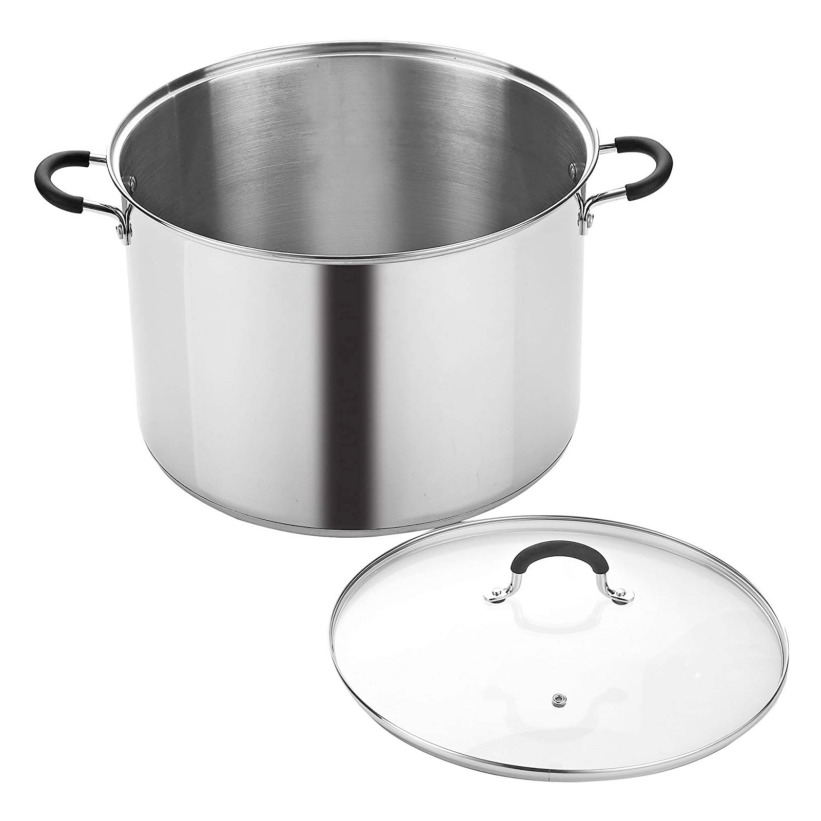Cook N Home 12 Stainless Steel Saucepot with Lid Quart Stockpot