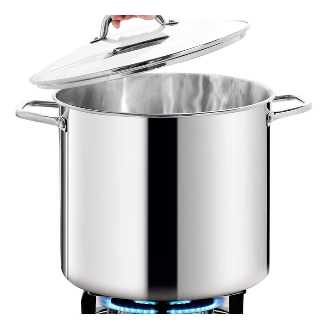 HOMICHEF Large Nickel Free Stainless Steel Stock Pot