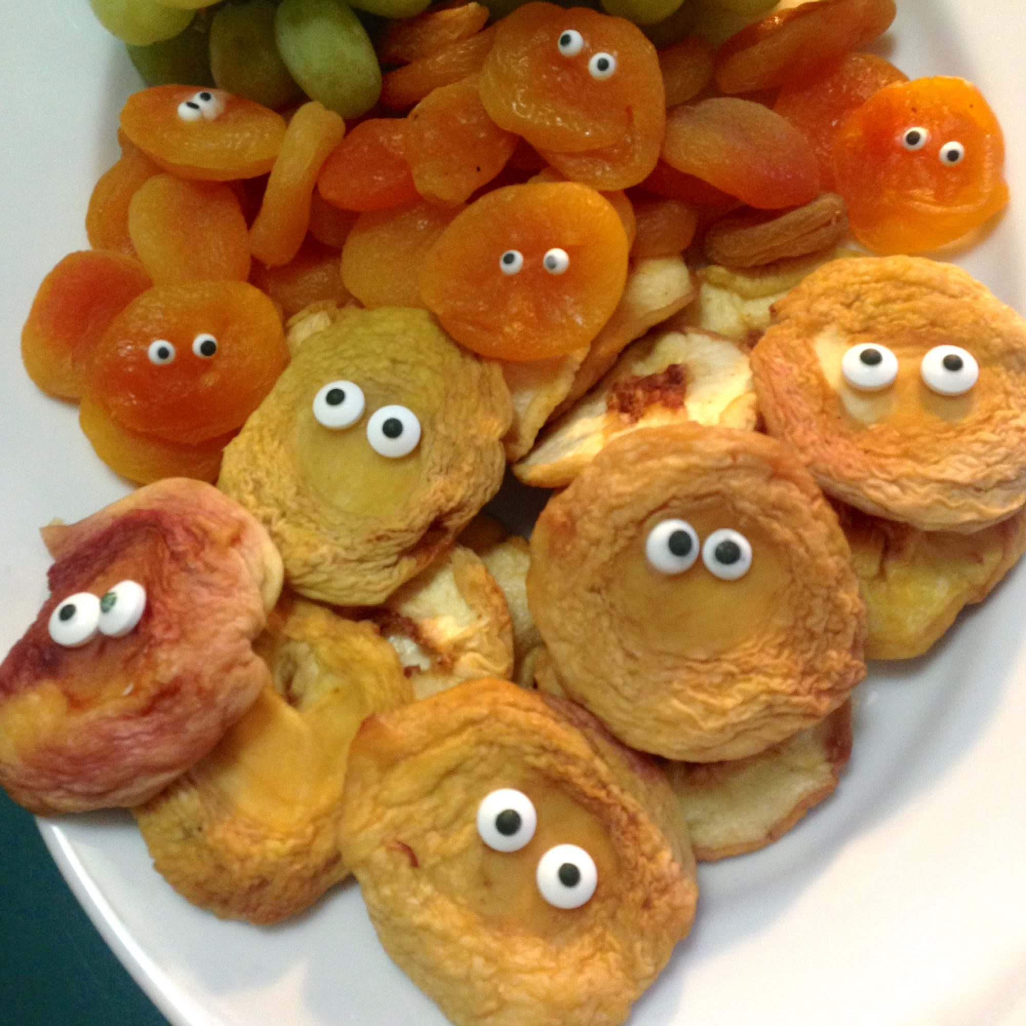 dried fruit snacks with edible eyes