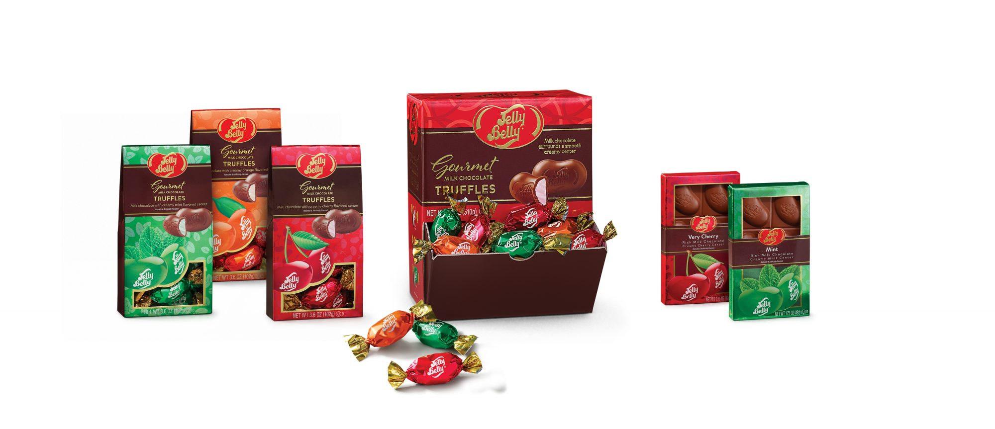 jelly belly chocolate bars and truffles