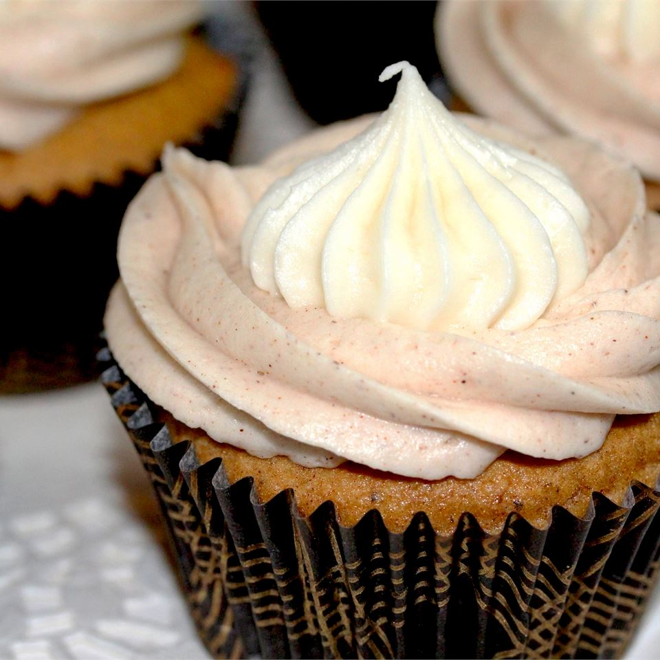 sweet potato cupcake with spiced frosting