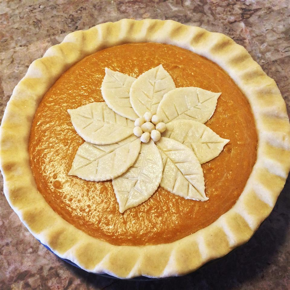 sweet potato pies with flower crust detail