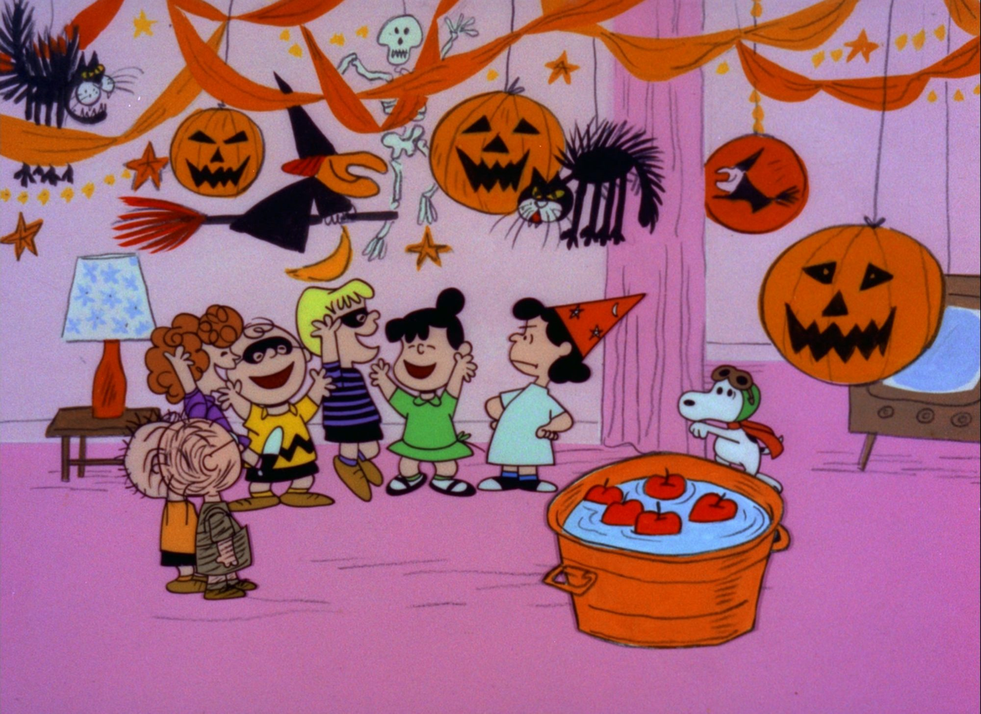"""""""IT'S THE GREAT PUMPKIN, CHARLIE BROWN"""" - The Peanuts gang celebrates Halloween, with Linus hoping that he will finally be visited by The Great Pumpkin; while Charlie Brown is invited to a Halloween party by mistake in, """"It's The Great Pumpkin, Charlie Brown"""" airing on TUESDAY, OCTOBER 26 (8:00-8:30 p.m., ET), on the Walt Disney Television via Getty Images Television Network. (Photo by Walt Disney Television via Getty Images Photo Archives/Walt Disney Television via Getty Images)"""